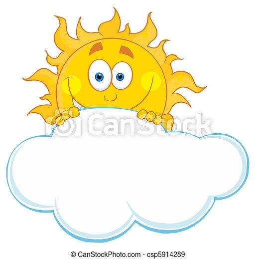 soleil, derrière, nuage, dissimulation - csp5914289