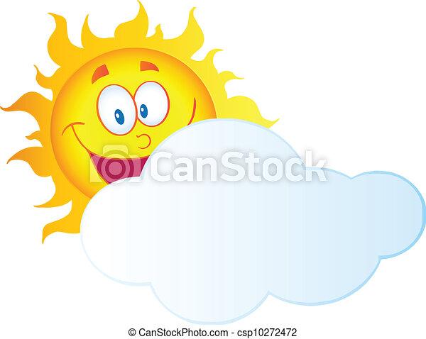 soleil, derrière, nuage, dissimulation - csp10272472