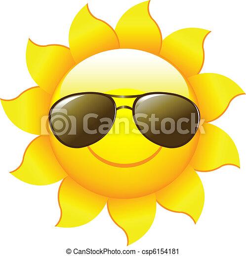 Soleil dessin anim vecteur caract res soleil isol - Dessin soleil rigolo ...