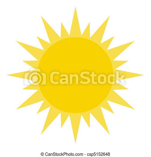 soleil, jaune, briller - csp5152648