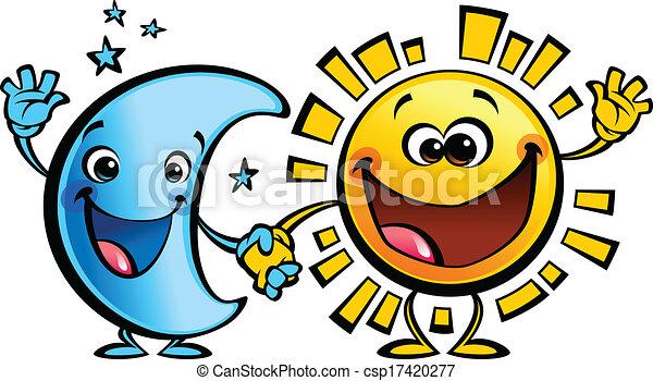 Soleil lune caract res b b amis dessin anim mieux bleu concept soleil image lune - Dessin de lune et soleil ...