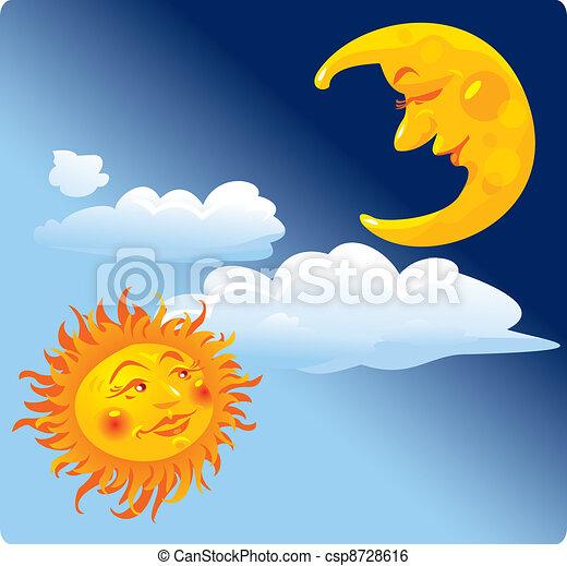 soleil, lune - csp8728616
