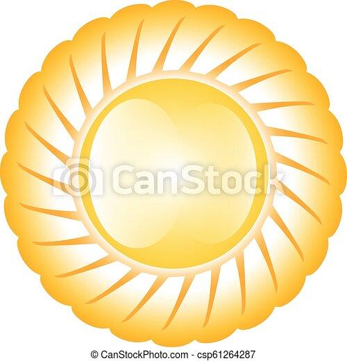 soleil, lustré, jaune - csp61264287