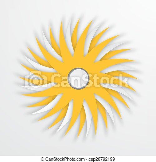 soleil, moderne, vecteur, fond, blanc, icône - csp26792199