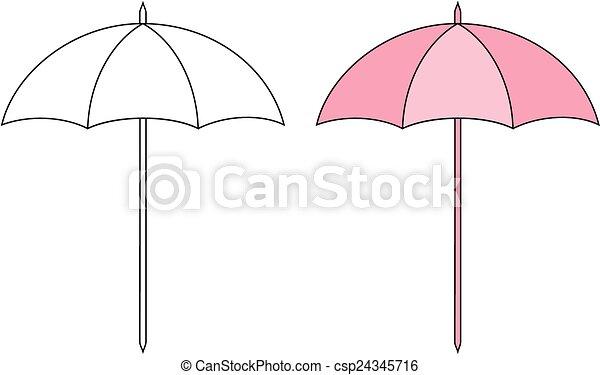 soleil, parapluie - csp24345716