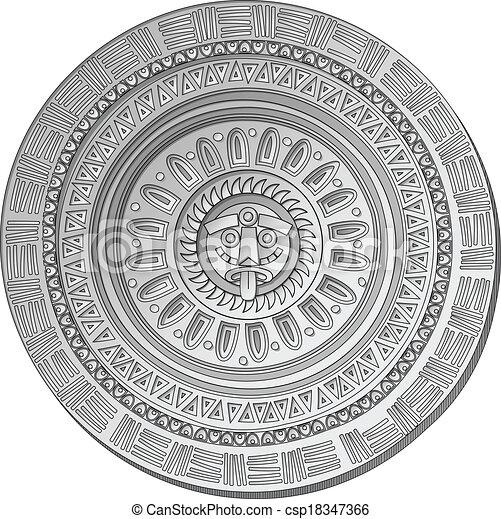 Calendrier Maya Signe.Soleil Pierre Maya Symbole