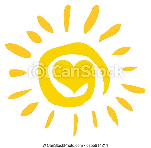soleil, résumé, coeur - csp5914211