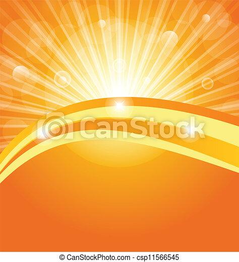 soleil, résumé, rayons, fond, lumière - csp11566545