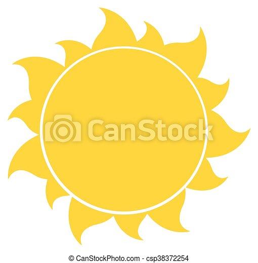 soleil, silhouette, jaune - csp38372254