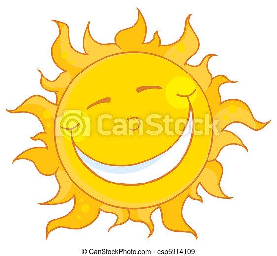 soleil souriant - csp5914109