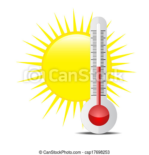 soleil, thermomètre - csp17698253