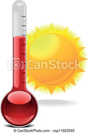 soleil, thermomètre - csp11923540