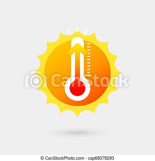 soleil, thermometer. - csp68078293