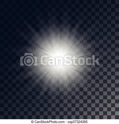 soleil, vecteur, briller - csp37324365