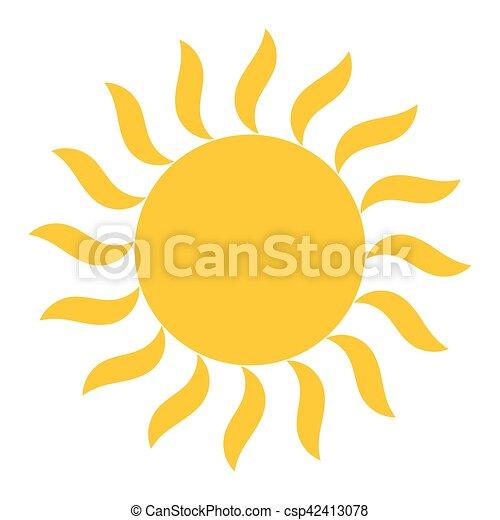 soleil, vecteur, briller, icône - csp42413078