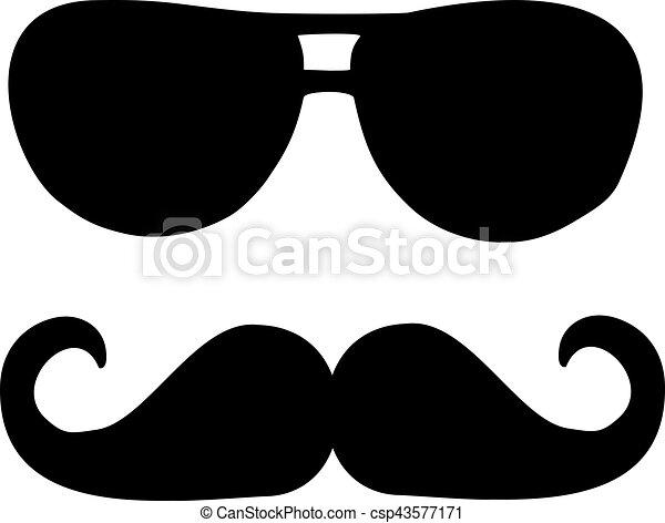 solglasögon, mustasch