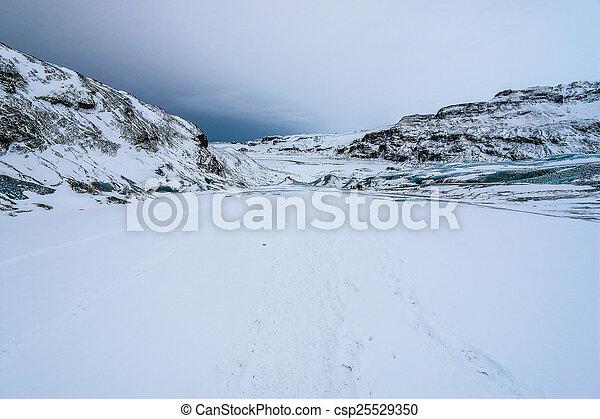 Solheimajokull glacier, Iceland - csp25529350