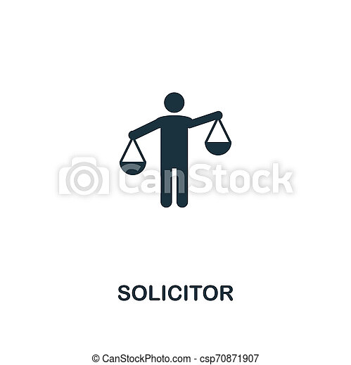 Solicitor icon. Premium style design from business management icon collection. Pixel perfect Solicitor icon for web design, apps, software, print usage - csp70871907