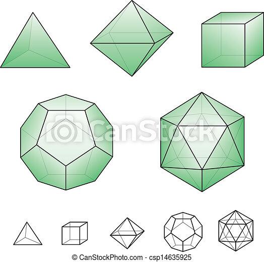 solides, platonic - csp14635925