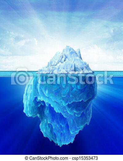 solitaire, iceberg, sea. - csp15353473