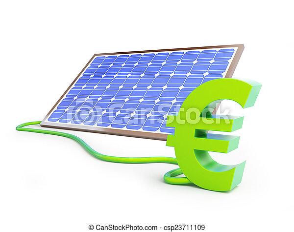 sollar panel euro sign - csp23711109