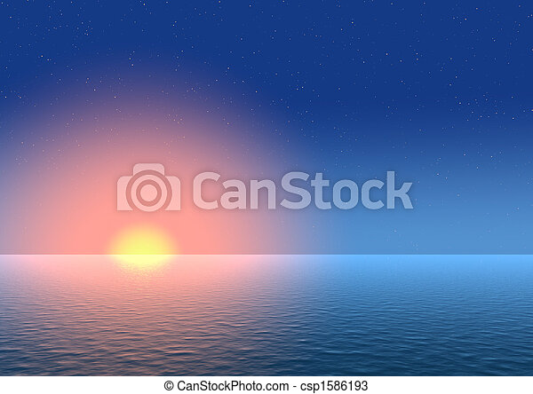 solnedgang, baggrund - csp1586193