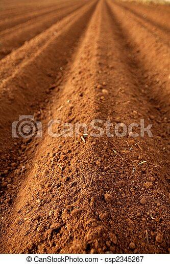 solo, argila, lavrou campos, agricultura, vermelho - csp2345267