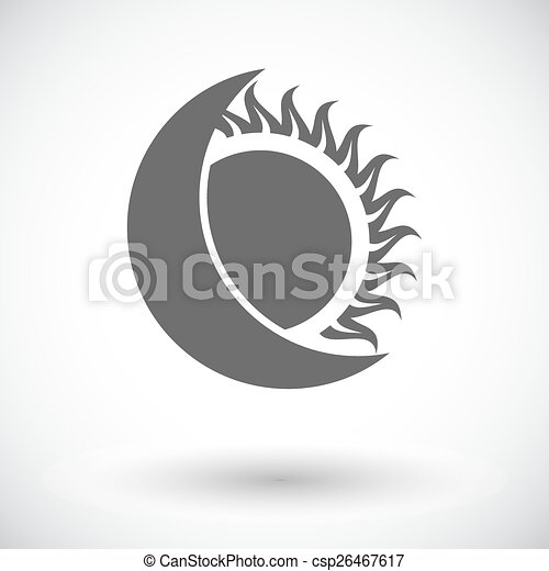 solo, eclipse, icon., solar - csp26467617
