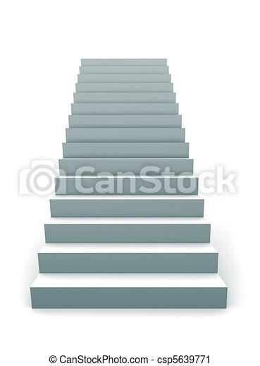 Una escalera 3D - csp5639771