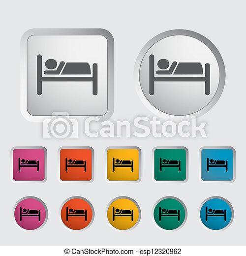 solo, hotel, icon. - csp12320962