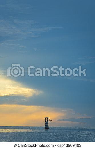 solo, tramonto, natura - csp43969403