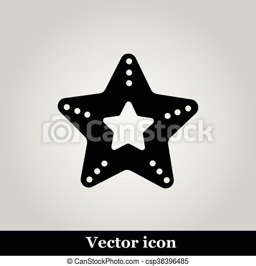 Un icono vector estrella de mar - csp38396485
