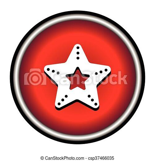 Un icono vector estrella de mar - csp37466035