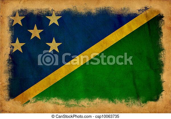 Solomon Islands grunge flag - csp10063735