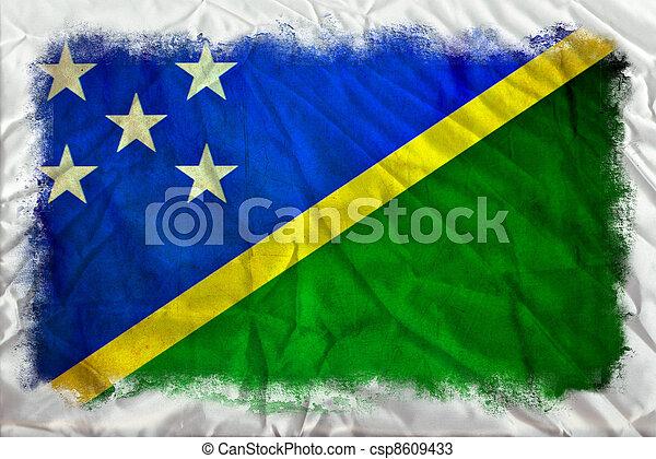 Solomon Islands grunge flag - csp8609433