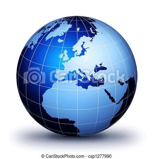 soltanto, mondo, globe! - csp1277990