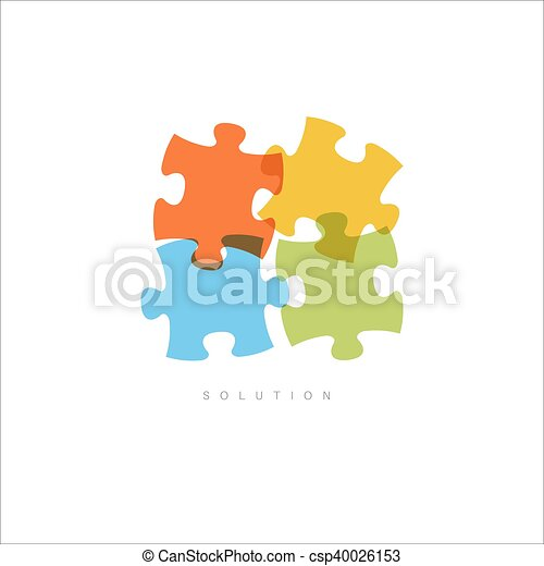 Solution - Abstract vector puzzle concept - csp40026153