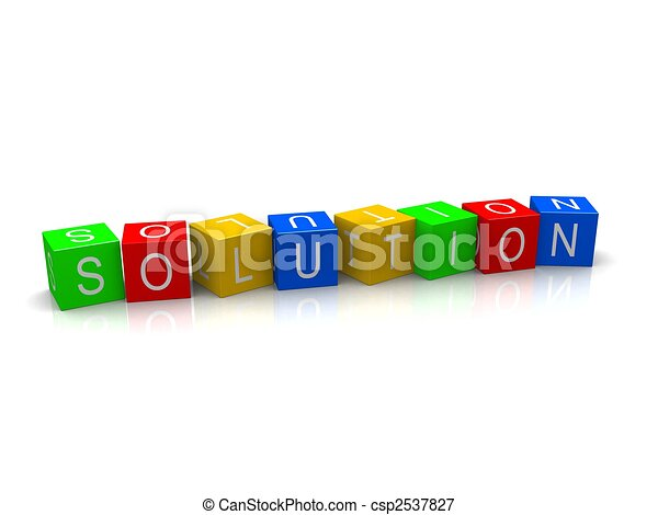 solution cubes - csp2537827