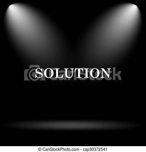 Solution icon - csp30372541