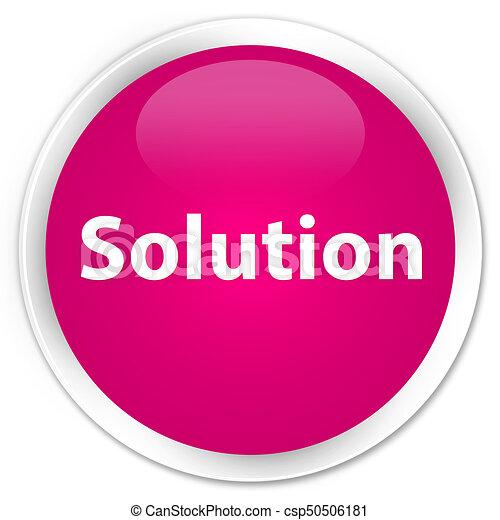 Solution premium pink round button - csp50506181