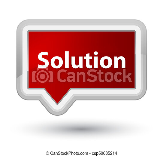 Solution prime red banner button - csp50685214