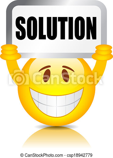 Solution sign - csp18942779