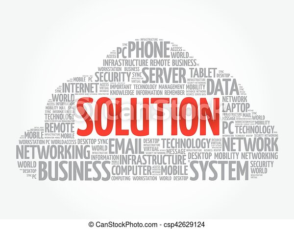 Solution word cloud - csp42629124
