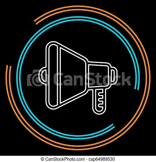 som, áudio, símbolo, -, volume, orador, voz, ícone - csp64989530