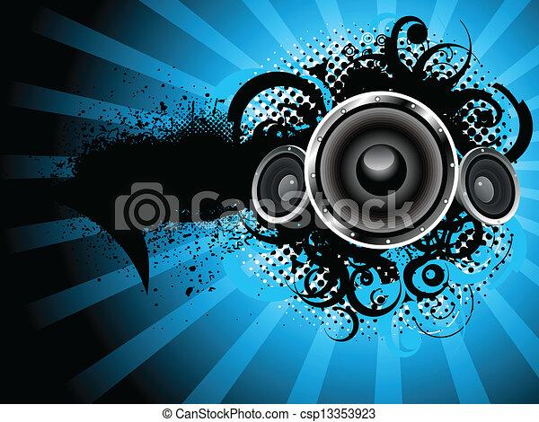 som, abstratos, grunge, fundo - csp13353923