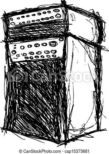 som, grunge, gabinete - csp15373681