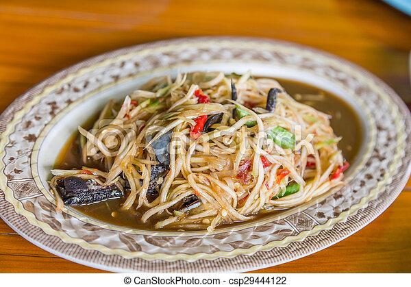 Som Tum, Thai papaya salad - csp29444122