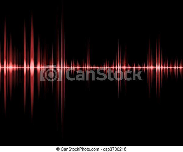 som, vermelho, onda - csp3706218
