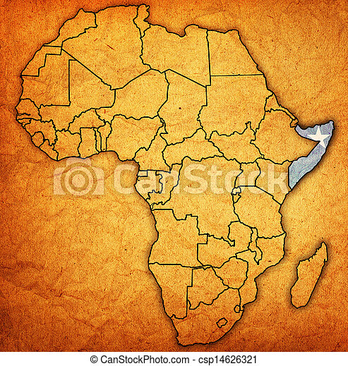 Somalia On Actual Map Of Africa Somalia On Actual Vintage Political