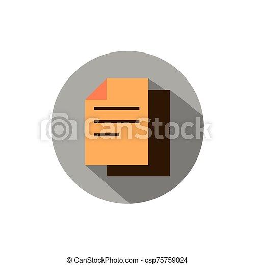sombra, estrategia, papel, documento, icono, bloque, empresa / negocio - csp75759024